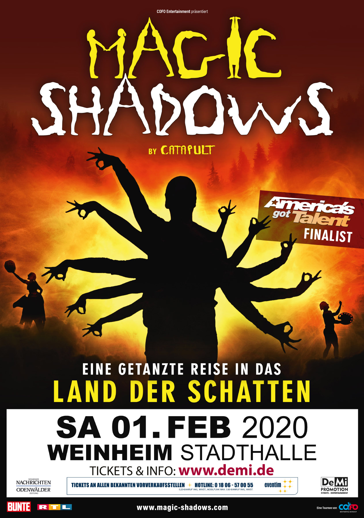 Magic Shadows – Eine getanzte Reise ins Land der Schatten • Weinheim
